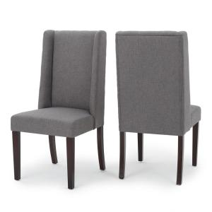 bb21b323a197 Noble House Gentry Dark Grey Fabric Tufted Dining Chair (Set of 2 ...