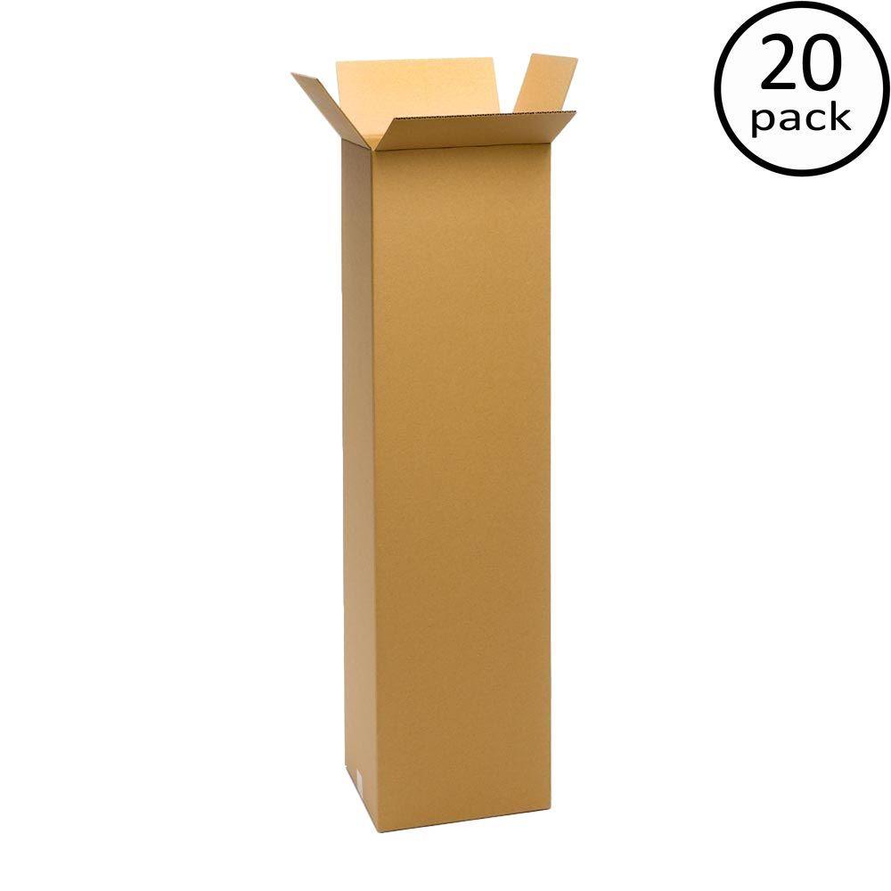 10 in. L x 10 in. W x 48 in. D Moving Box (20-Pack)