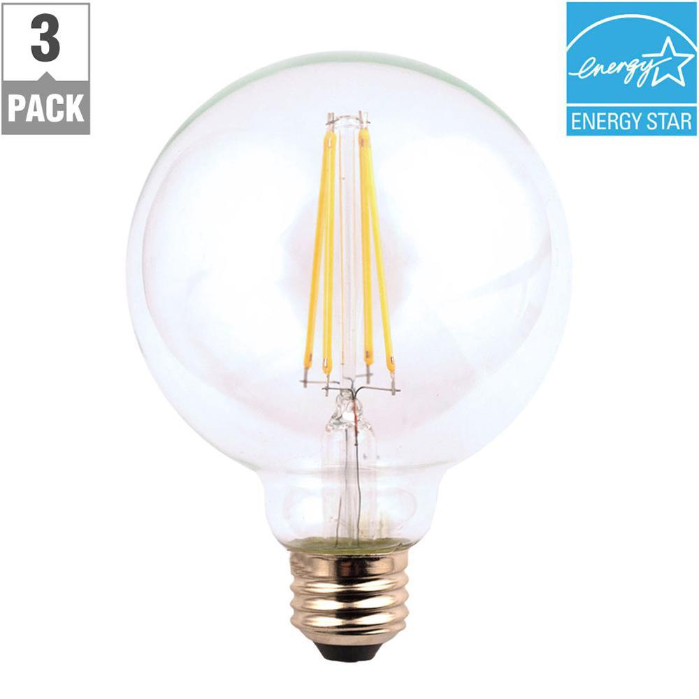 Ecosmart 40w Equivalent Soft White G25 Dimmable Filament: EcoSmart 40-Watt Equivalent G25 Dimmable Clear Filament