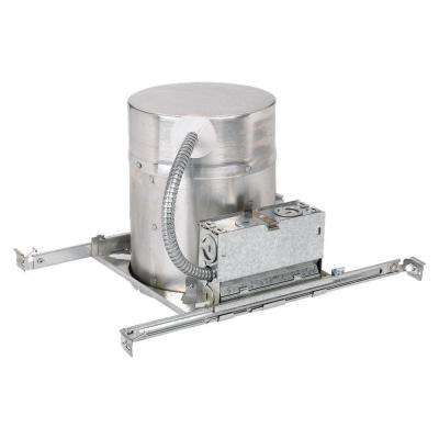 New Construction 6 in. Metallic Recessed Metal IC Airtight Housing Kit