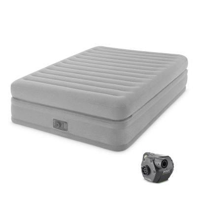 Queen Prime Comfort Elevated Air Mattress with Built-In Pump and Cordless Pump