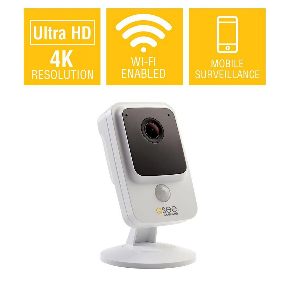 4K Wi-Fi Cube Camera with 16GB SD Card and Night Vision