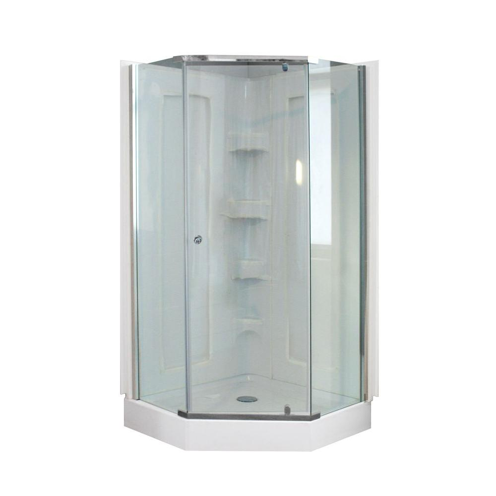 Superieur Dreamwerks 38 In. X 38 In. X 78 In. Neo Angle Mosaic Shower