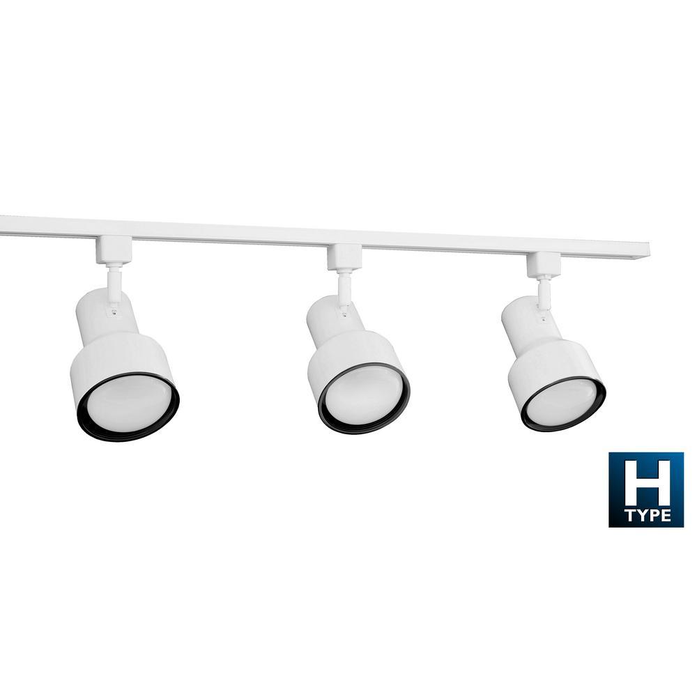 NICOR 4 ft. 3-Light White Linear Track Lighting Kit
