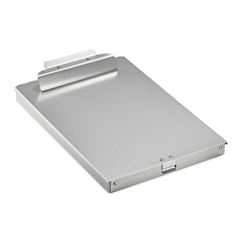Spring-Loaded Aluminum Form Storage Clipboard