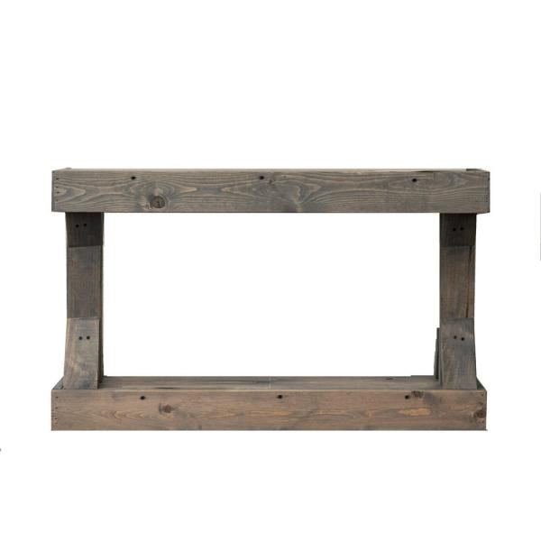 Barb 22.25 in. H x 37.25 in. W x 10.75 in. D Gray Small Bench
