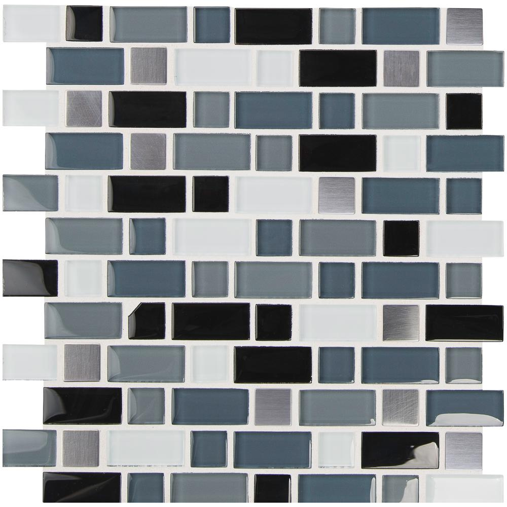 Mesh Mounted Glazed Mixed Quartz Mosaic Tile 1 Sq Ft Tiles Saidli Stone Tiles
