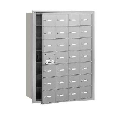 3600 Series Aluminum Private Front Loading 4B Plus Horizontal Mailbox with 28A Doors (27 Usable)