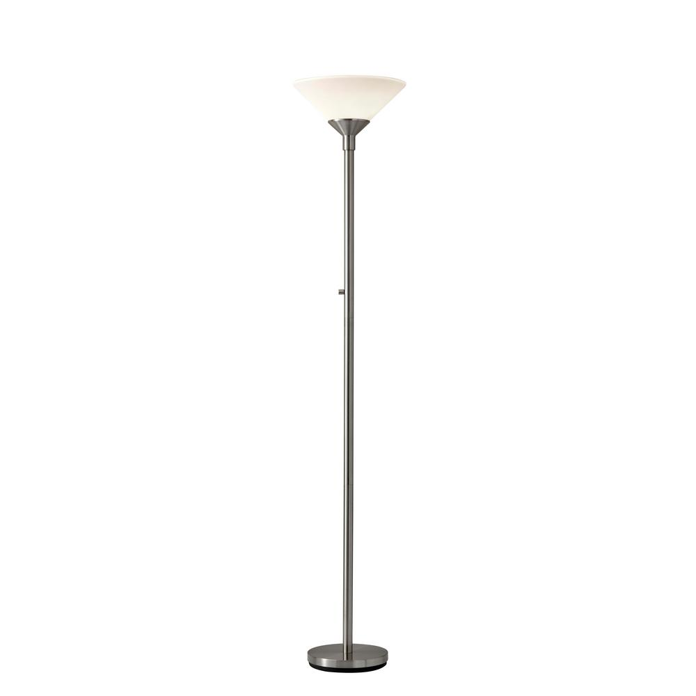 Steel Aries Torchiere Floor Lamp