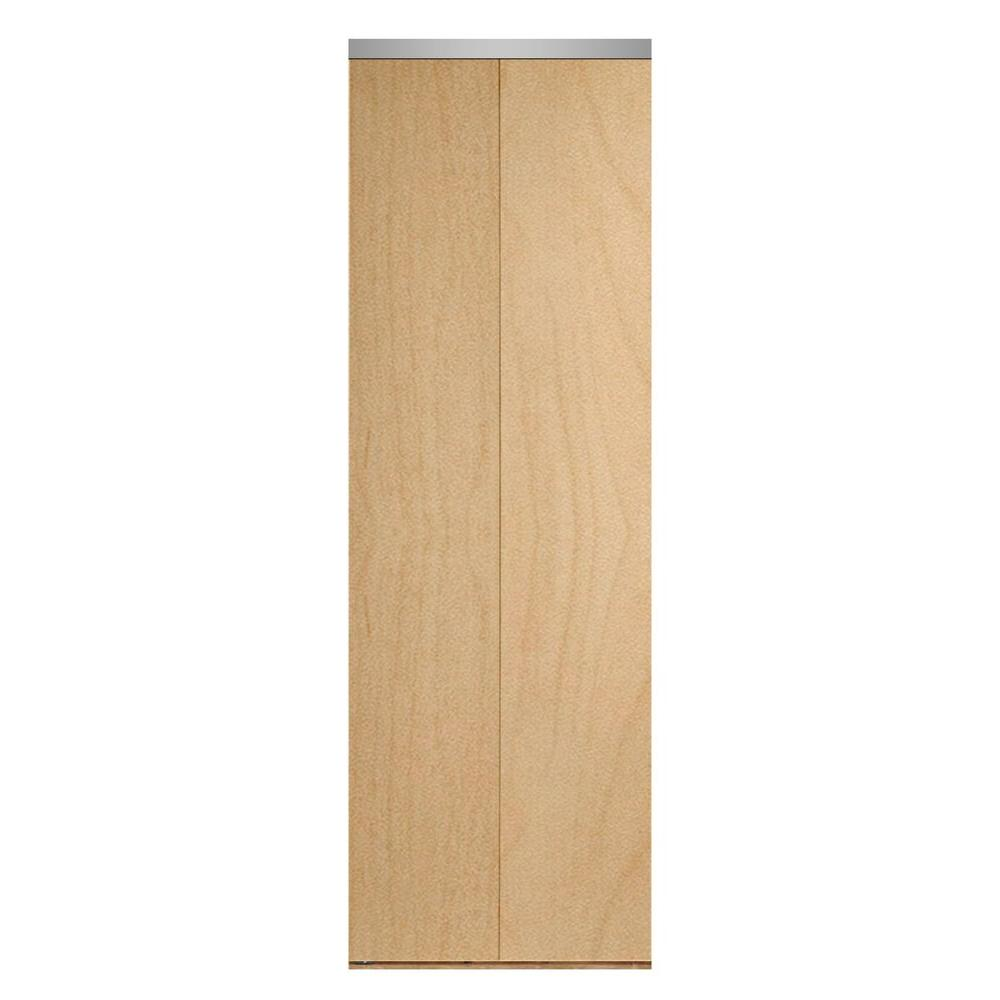 24 in. x 80 in. Smooth Flush Stain Grade Maple Solid