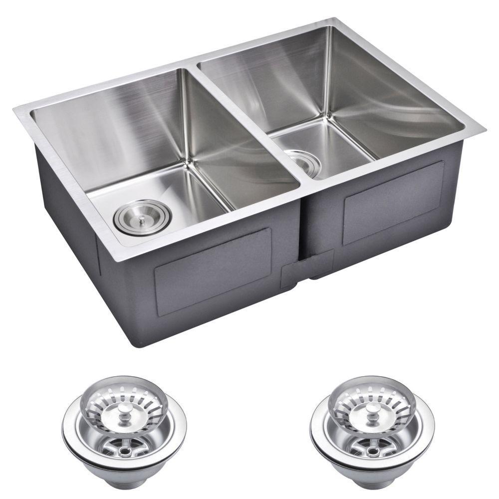 Hole Double Bowl Kitchen