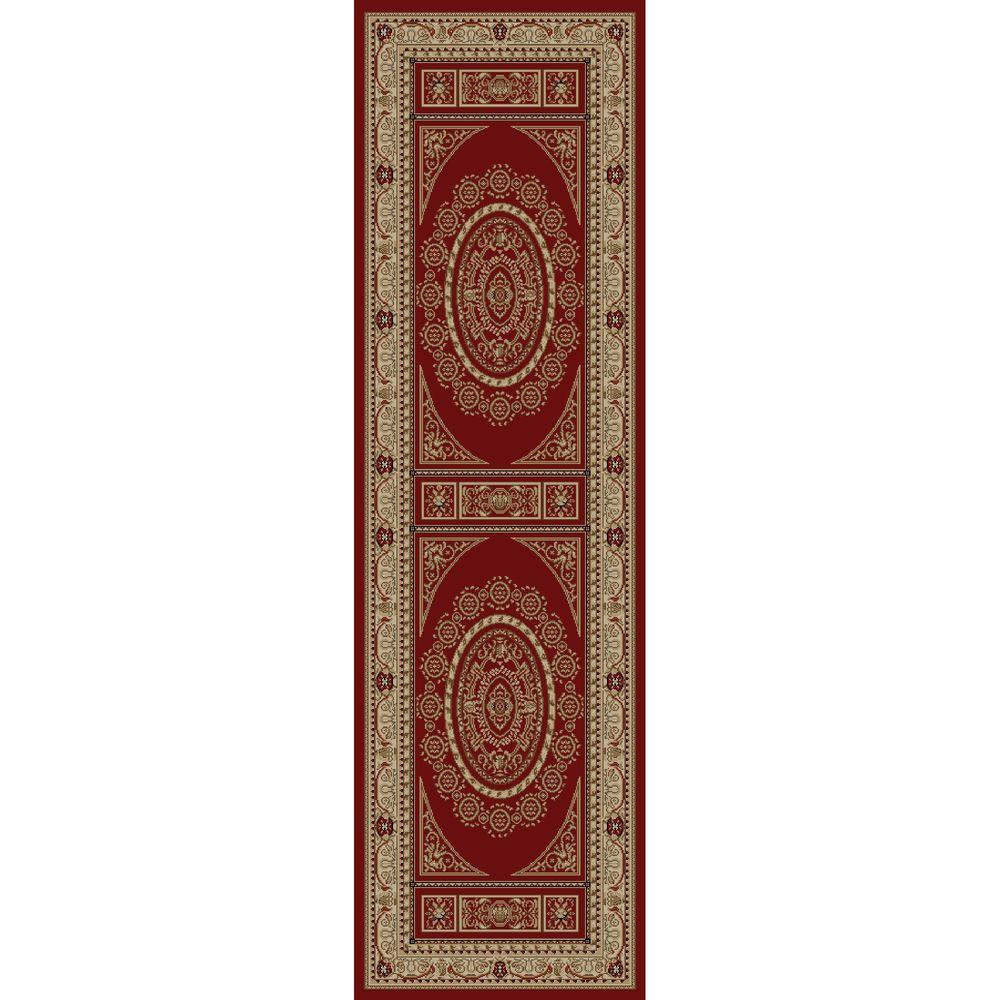 Jewel Aubusson Red 2 ft. 3 in. x 7 ft. 7