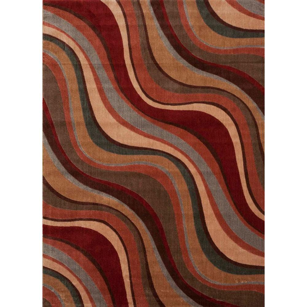 Rhythm Multicolor 8 ft. x 11 ft. Area Rug