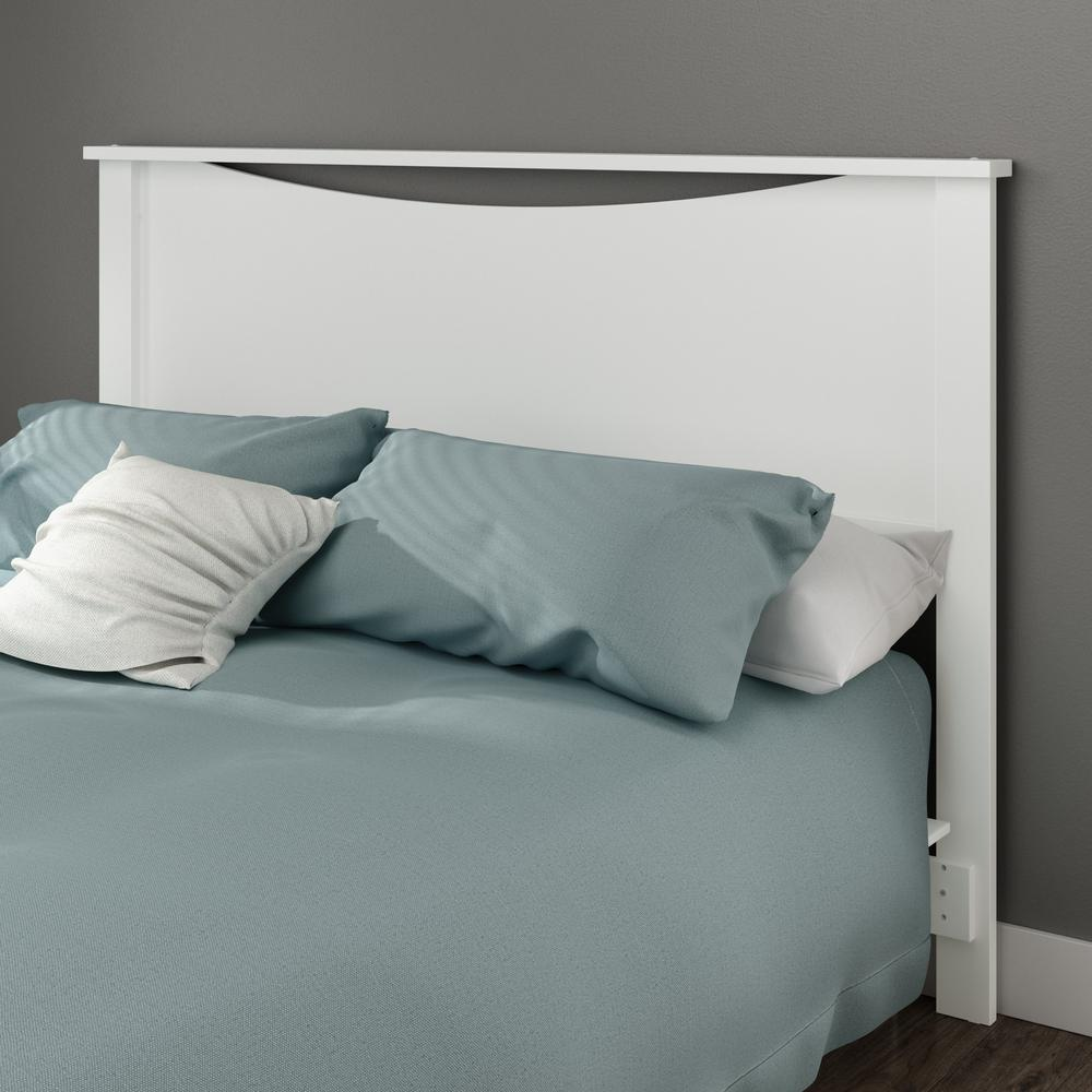 9d8e1dd96cc South Shore Step One Full Queen-Size Headboard in Pure White-3160270 - The  Home Depot