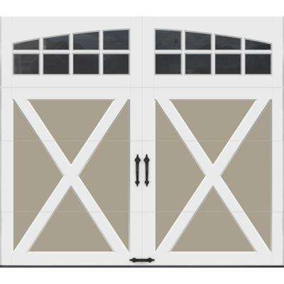 Coachman Collection 8 ft. x 7 ft. 18.4 R-Value Intellicore Insulated Sandtone Garage Door with Arch Window