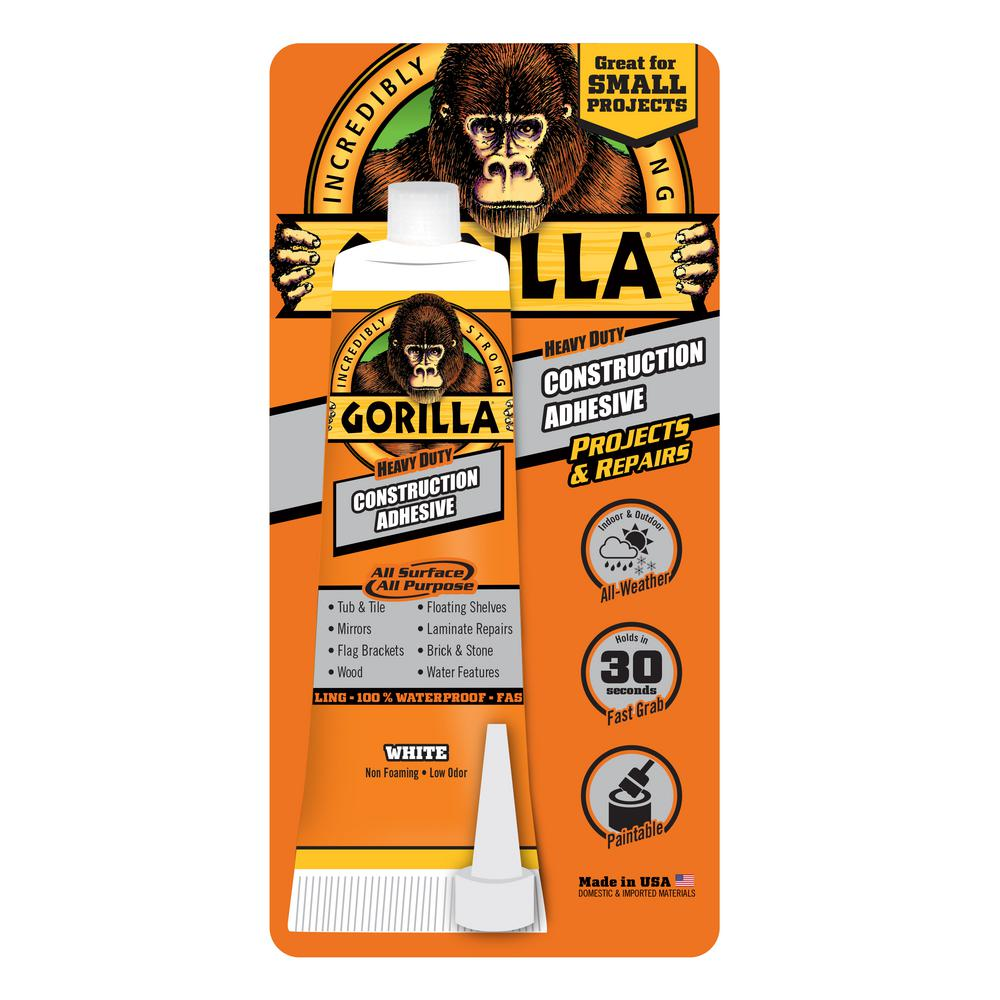 Gorilla 2.5 oz. Construction Adhesive Tube (5-Pack)