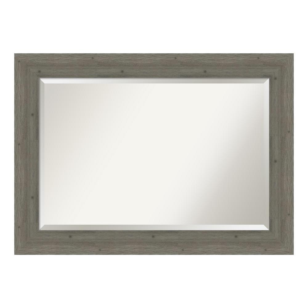 Amanti Art Fencepost Grey Bathroom Vanity Mirror DSW4094302