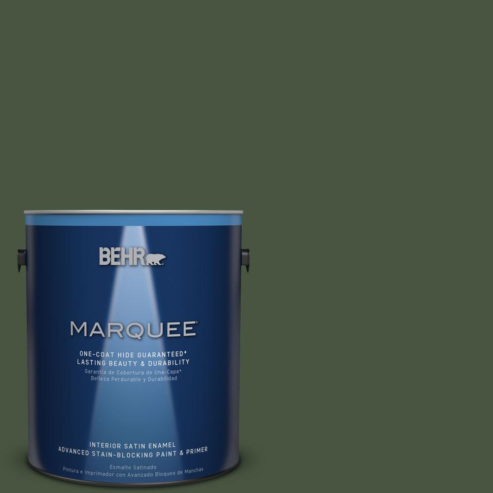 1 gal. #MQ6-49 Chard One-Coat Hide Satin Enamel Interior Paint