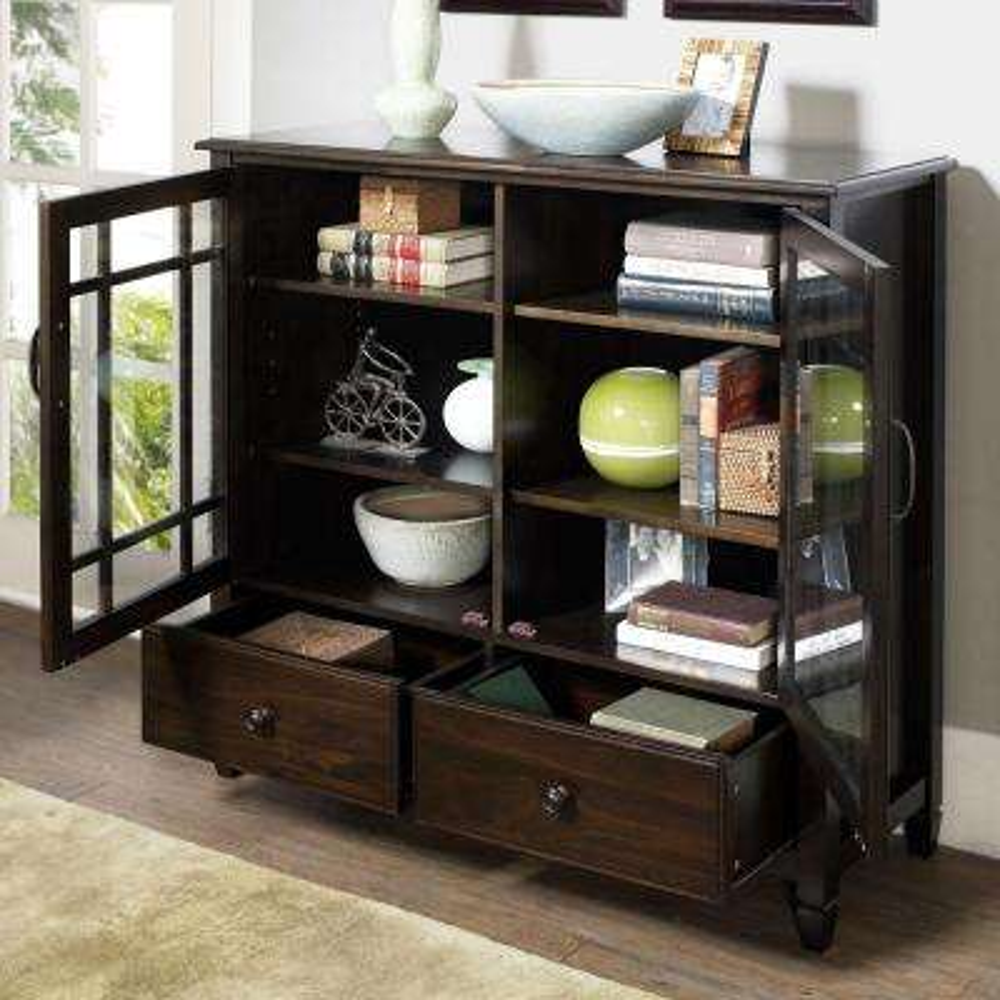 Connaught Dark Chestnut Brown Storage Cabinet