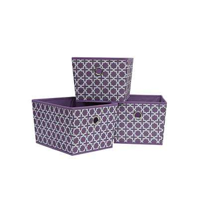 12.75 in. x 8 in. Lilac Purple Storage Bin (3-Pack)