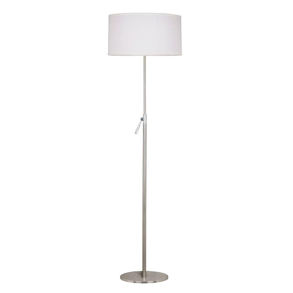 Kenroy home propel 50 68 in brushed steel floor lamp for Homebase chandelier floor lamp