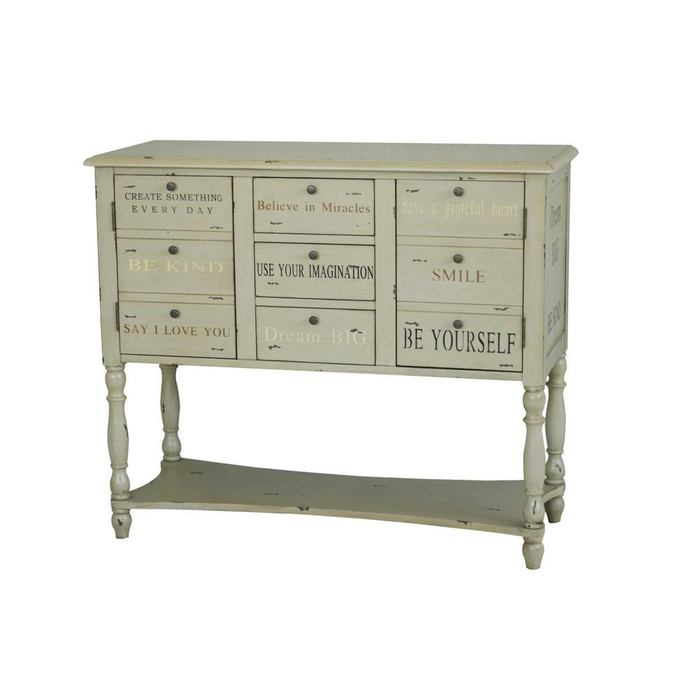 Pulaski Furniture 3-Drawer Console Chest in Beige