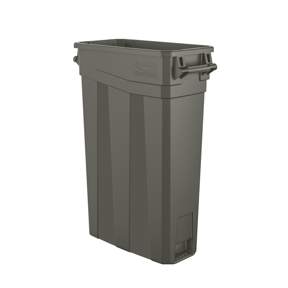 476393d90e05 Suncast Commercial 23 Gal. Resin Slim Trash Can
