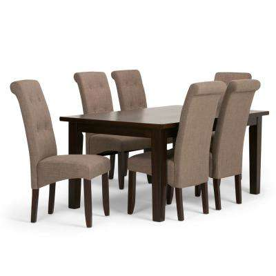 Cosmopolitan 7 Piece Light Mocha Dining Set