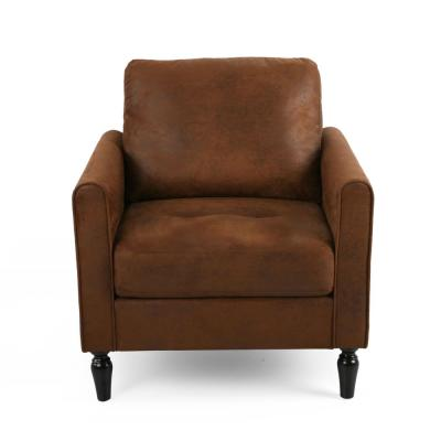 Blithewood Brown and Black Microfiber Club Chair