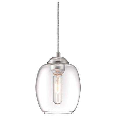 Bubble 1-Light Brushed Nickel Pendant Convertible Wall Sconce