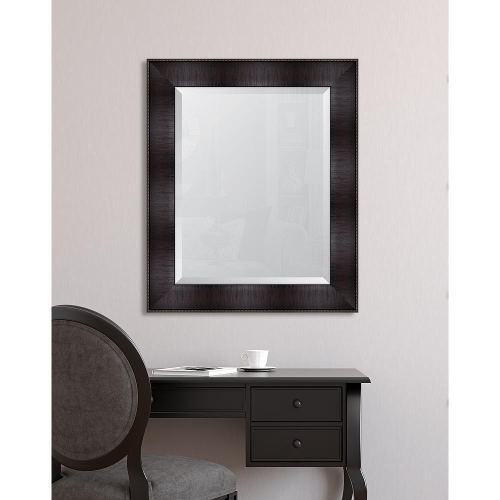Melissa van hise 30 in x 36 in framed 4 in espresso for Mirror 30 x 36