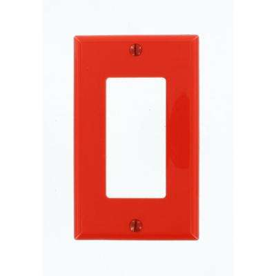 1-Gang Decora Nylon Wall Plate, Red