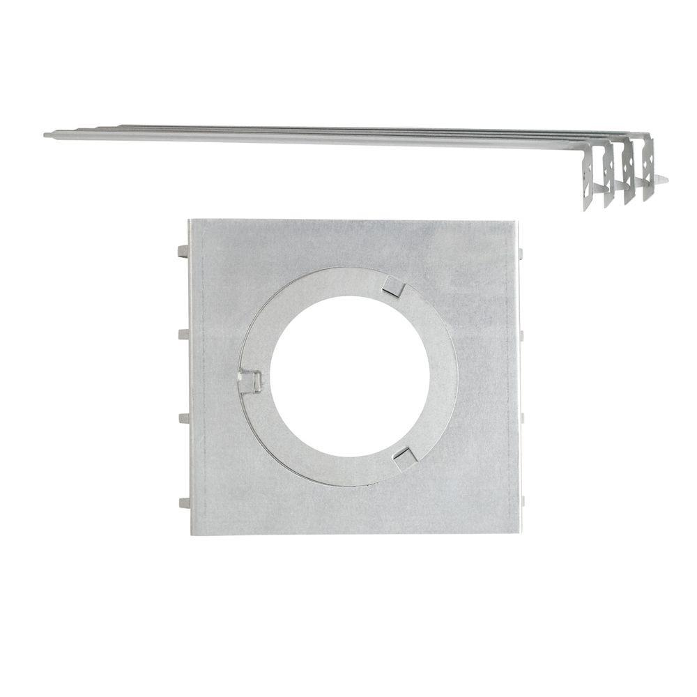 Globe Electric All in One 7 in. New Recessed Construction Mounting Plate with Hanger Bars