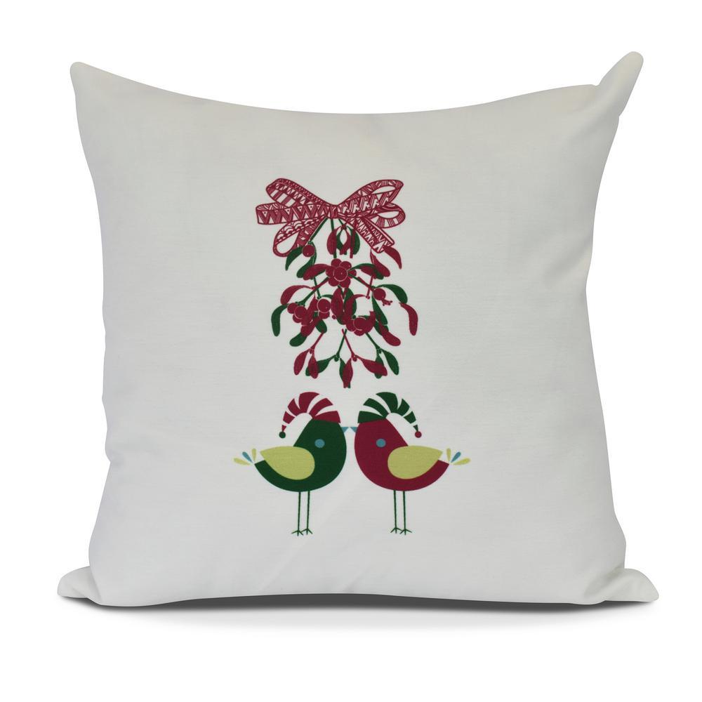 Love Birds Animal Print Decorative Pillow
