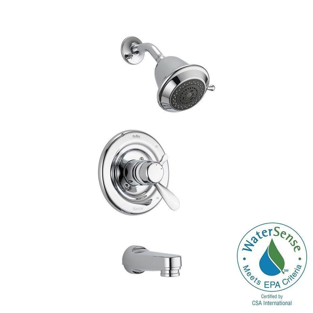 Delta Innovations 1 Handle Tub And Shower Faucet Trim Kit In Chrome With  Slip