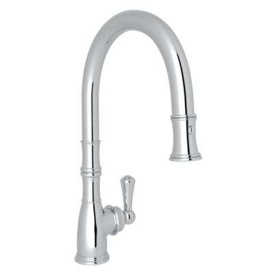Perrin and Rowe Single-Handle Pull-Down Sprayer Kitchen Faucet in Polished Chrome