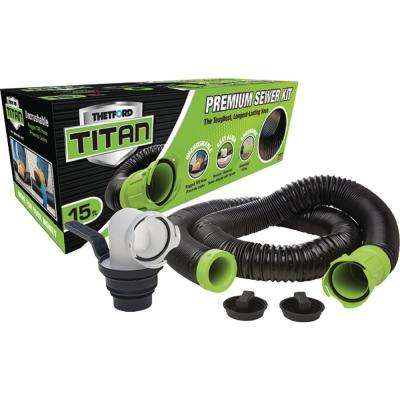 Titan 15 ft. Premium RV Sewer Kit System