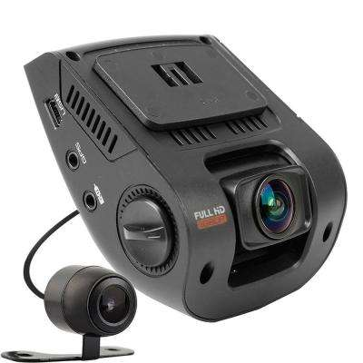 V1P 2.4 in. LCD FHD 1080p 170° Wide Angle Dual Channel Dashboard Camera Recorder with Rear Camera and G-Sensor
