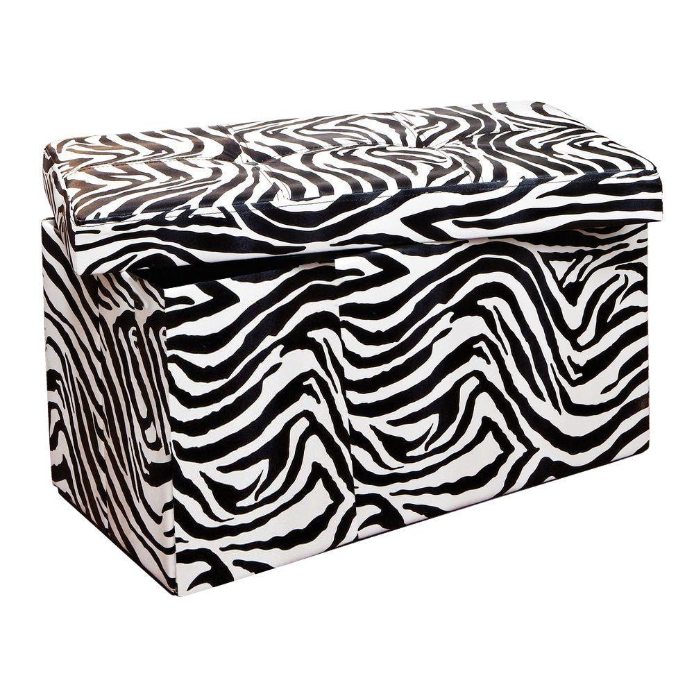 Simplify Zebra Storage Ottoman  sc 1 st  Home Depot & Simplify Zebra Storage Ottoman-F-0632-ZEBRA - The Home Depot