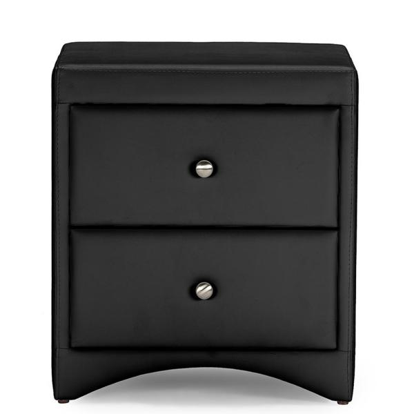 Baxton Studio Dorian 2-Drawer Black Nightstand 28862-6202-HD