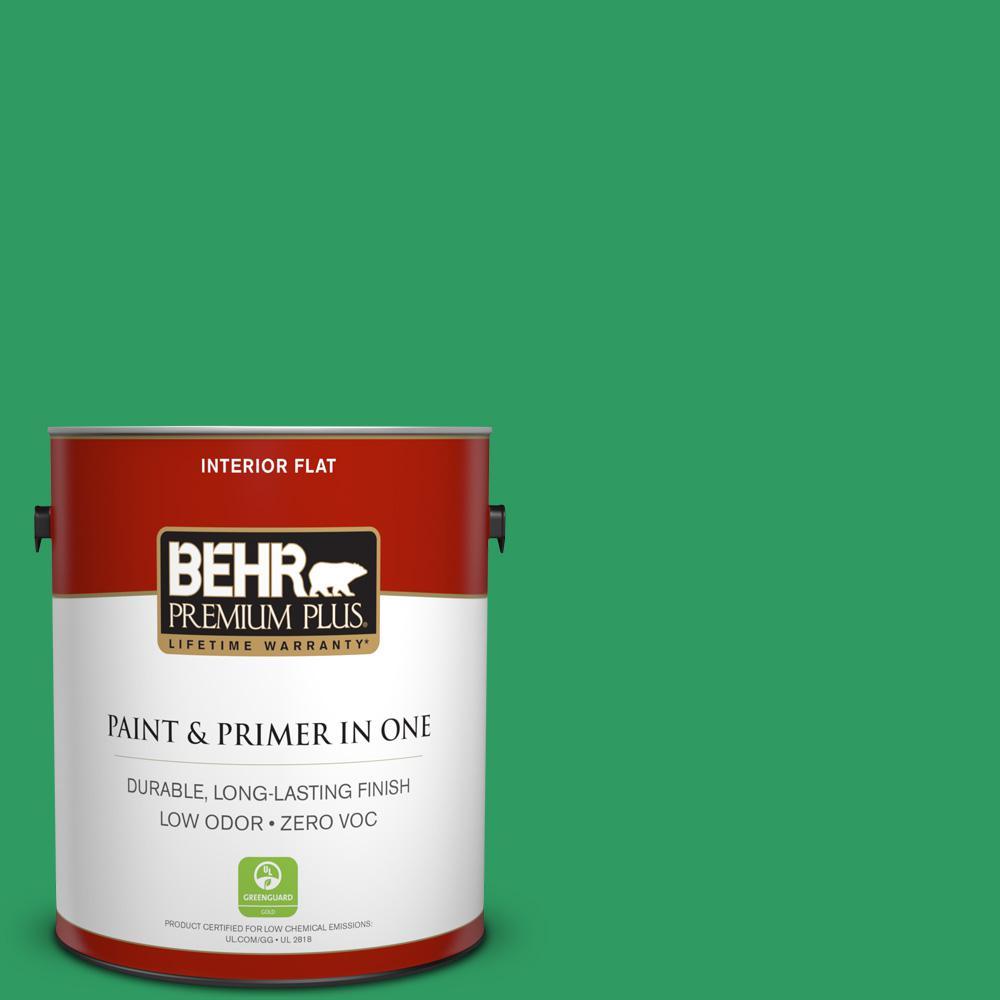 BEHR Premium Plus 1-gal. #S-G-450 Herbal Tea Zero VOC Flat Interior Paint