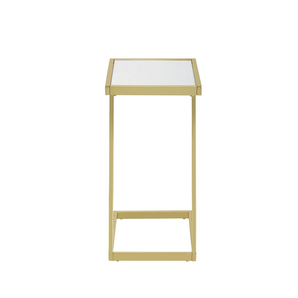 Laina Mirror and Gold Side Table