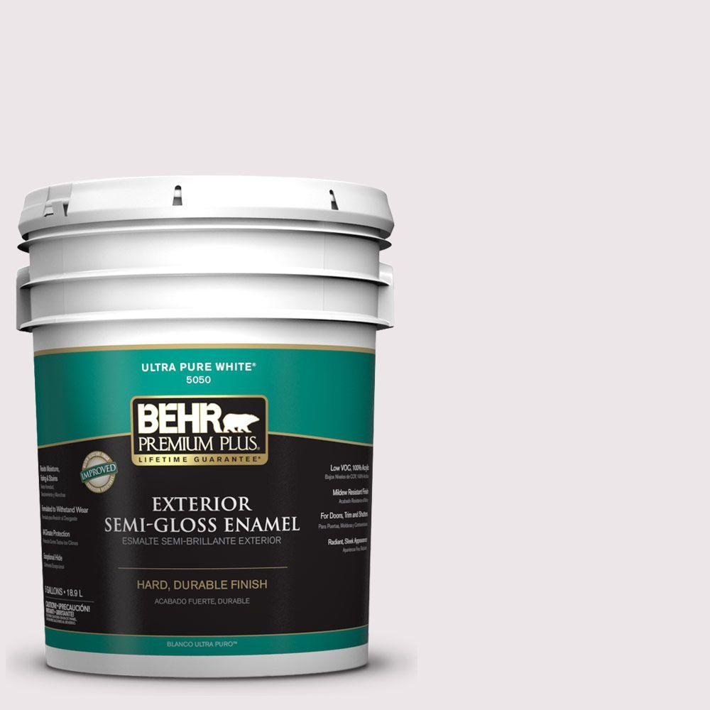 5-gal. #W-B-620 Frosty Morning Semi-Gloss Enamel Exterior Paint