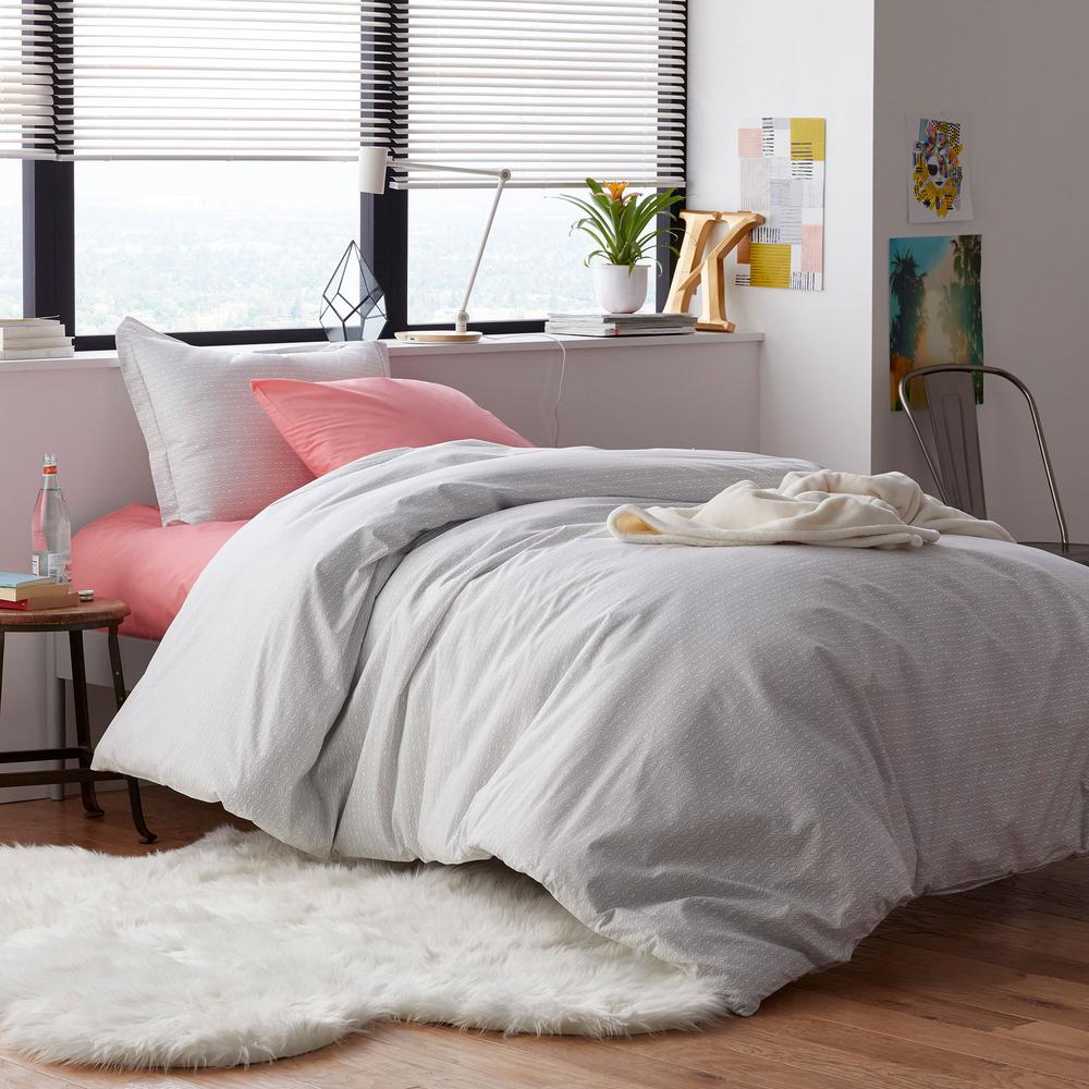 The Company Store Lacey Geo 2 Piece Multicolored Cotton Percale Twin Xl Duvet Cover Set 50391n Txl Multi The Home Depot