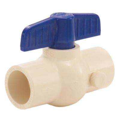 1/2 in. CPVC Drainable Socket Ball Valve