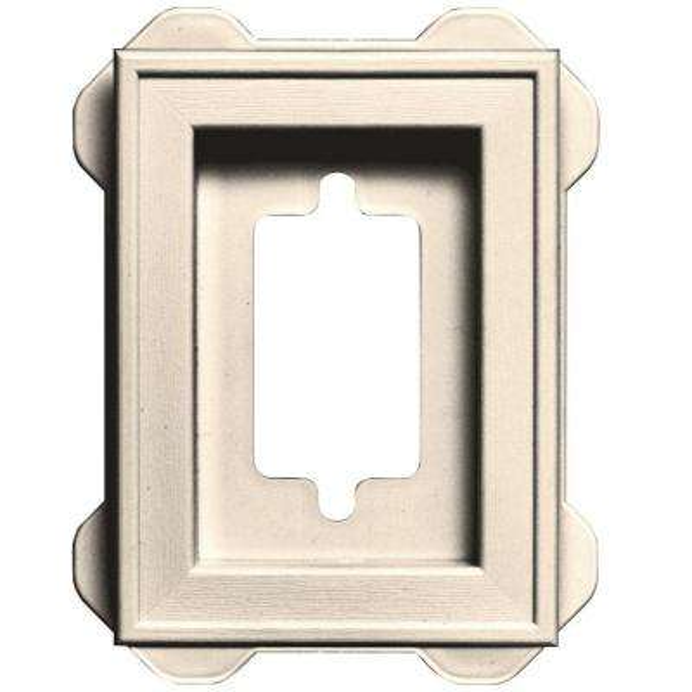 5 in. x 6.75 in. #021 Sandstone Beige Recessed Mini Universal Mounting Block