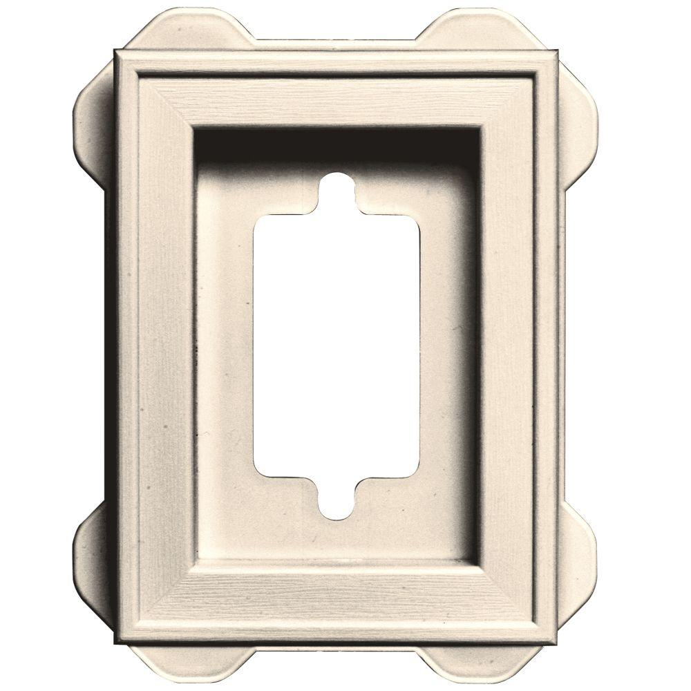 4.5 in. x 6.3125 in. #021 Sandstone Beige Recessed Mini Mounting