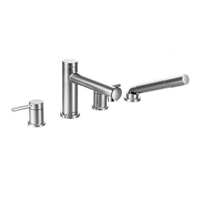 Align 2-Handle Deck Mount Roman Tub Faucet Trim Kit with Hand shower in Chrome (Valve Not Included)