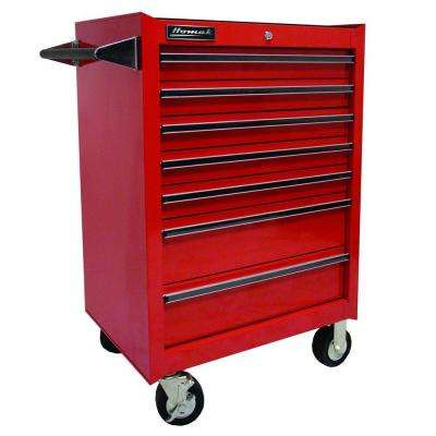 Professional 27 in. 7-Drawer Rolling Cabinet, Red