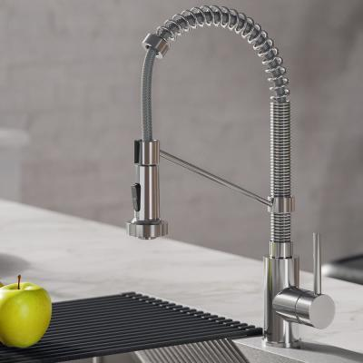 Bolden Single-Handle Pull-Down Sprayer Kitchen Faucet with Dual Function Spray Head in Chrome